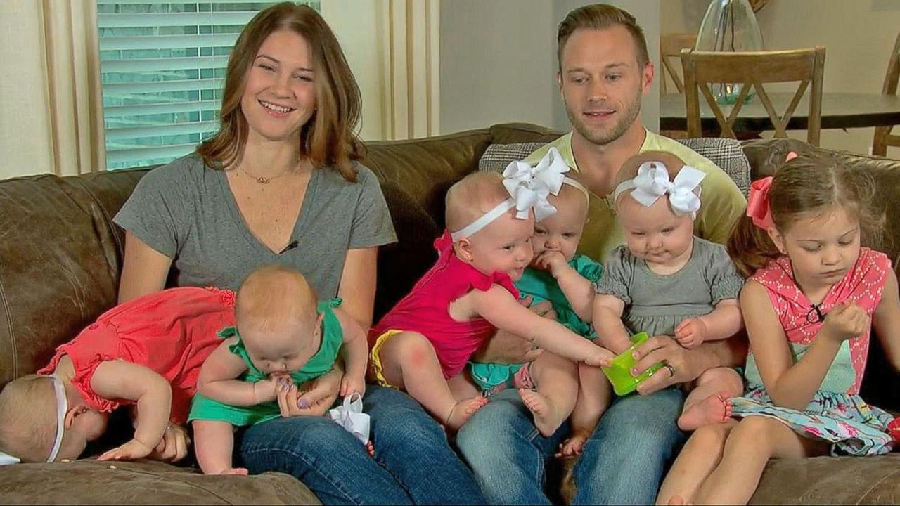 Busby quintuplets celebrate their first mother 39 s day at for League city flooding outdaughtered