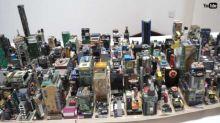 【有片】廢棄電路板變紐約市模型 17歲學生好手藝
