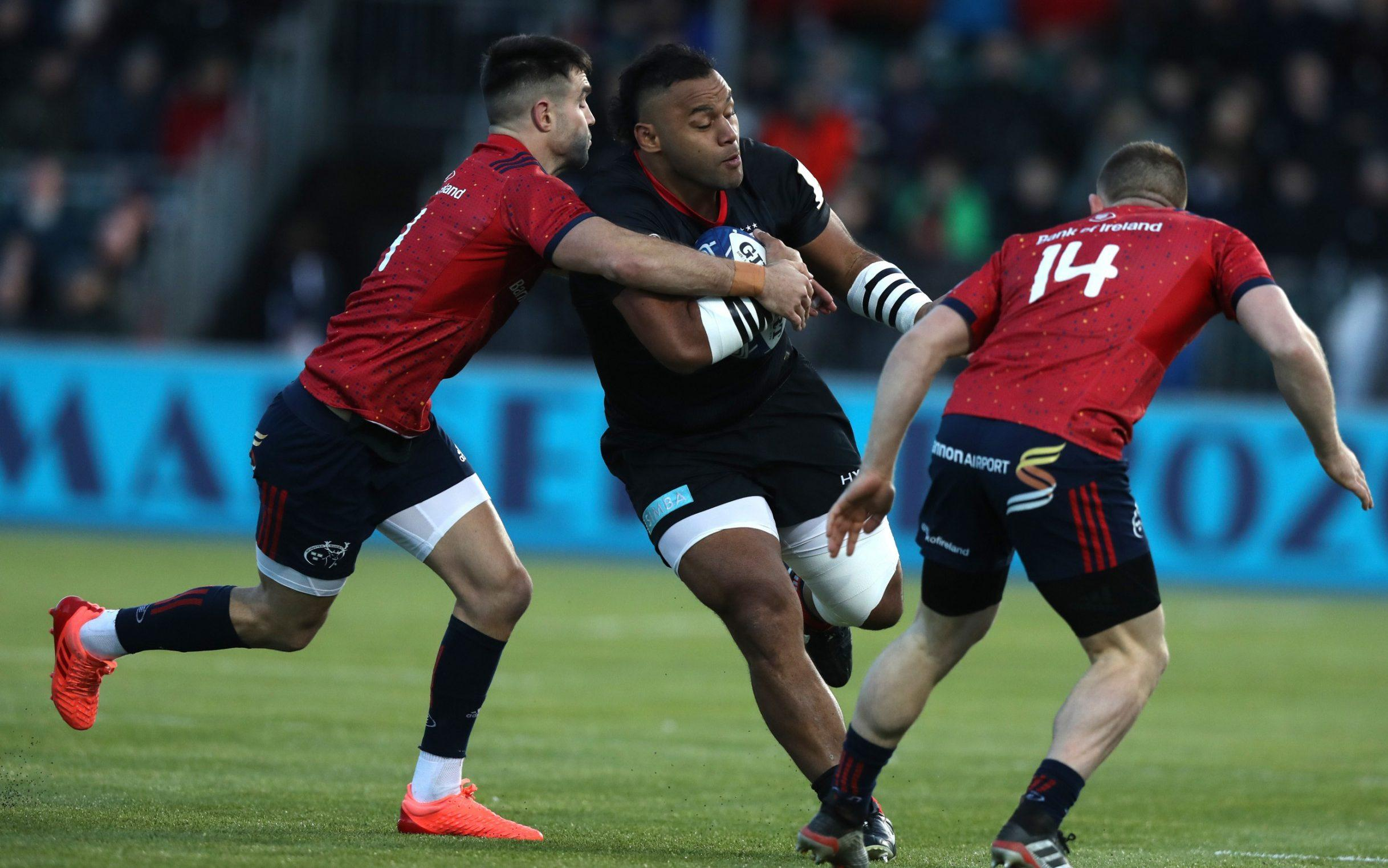 Billy Vunipola is tackled by Conor Murray at Allianz Park - Getty Images Europe