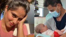 """Camilla Camargo mostra primeiro encontro de Zezé com a neta: """"Apaixonada"""""""