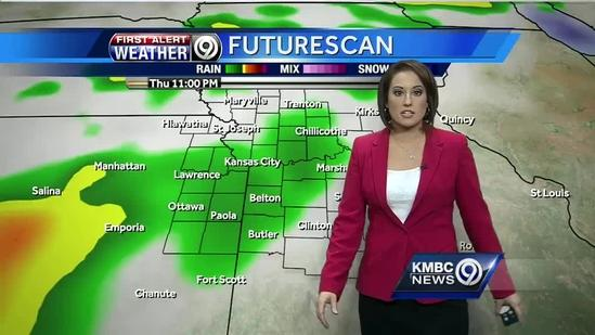 Showers likely Thursday night, early Friday
