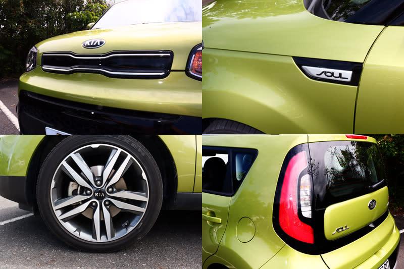 虎鼻識別的水箱護罩與C字型大型尾燈都是Soul的造型特色,本次試駕的震撼版車型還配上了18吋的胎圈組,更有霸氣,同時即便配置低扁平比胎,行路舒適性並沒有因此而打折。