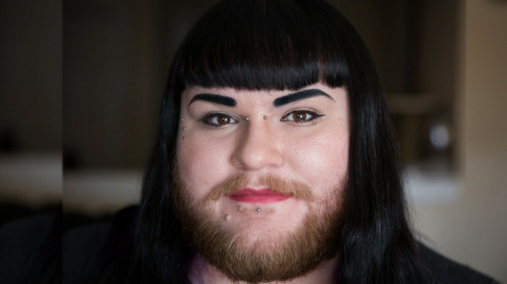 Woman finally finds courage to wear her beard with pride