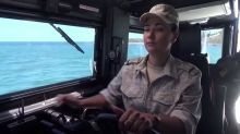 Russian Navy's first all-female crew on patrol