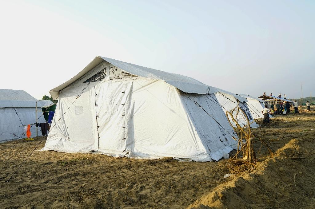 Myanmar's government has built transit camps in Rakhine but so far not a single Rohingya has crossed back from Bangladesh (AFP Photo/Cape Diamond)