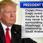 Trump issues statement backing Saudi ruler after Khashoggi killing