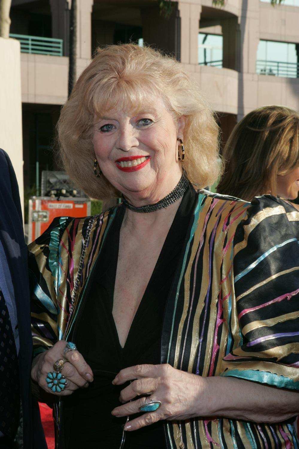 "This June 26, 2004 photo provided by The Academy of Television Arts & Sciences shows actress Sheila MacRae arriving at the 16th Hall of Fame induction ceremony in Los Angeles. The veteran stage, film and TV performer, MacRae, best known for playing Alice Kramden in the 1960s re-creation of ""The Honeymooners"" has died. MacRae's granddaughter, Allison Mullavey, on Friday, March 7, 2014, told The Associated Press that the actress died at age, 92, Thursday, at the Lillian Booth Actors Home in Englewood, New Jersey. (AP Photo/Academy of Television Arts & Sciences, Mathew Imaging/Filmmagic)"