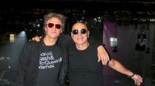 Charly Alberti y Zeta Bosio con Soda Stereo en el Sép7imo Día