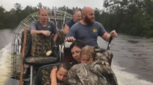 Family of 5, including 8-months pregnant mother, rescued from Florence floodwaters in suspenseful video