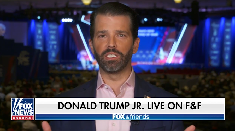 Trump Jr. accuses Dems of rooting for virus deaths