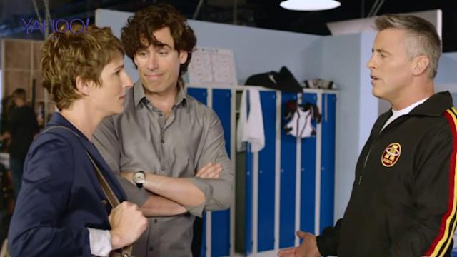 Stephen Mangan nervous of Matt Le Blanc