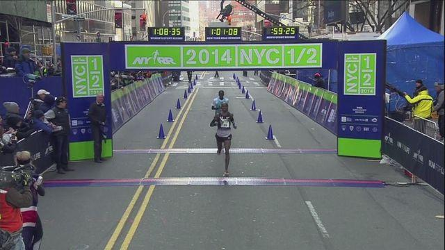 Farah tumbles in New York half-marathon