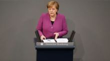 Merkel calls for Europe to step up to global challenges