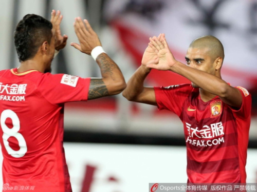 Chinês: brazucas marcam em empate no clássico de Cantão; R&F lidera