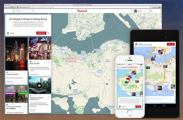 Pinterest intros Place Pins so you can map out all the places you'll go