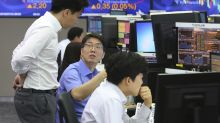 Global shares edge up on upbeat US earnings reports