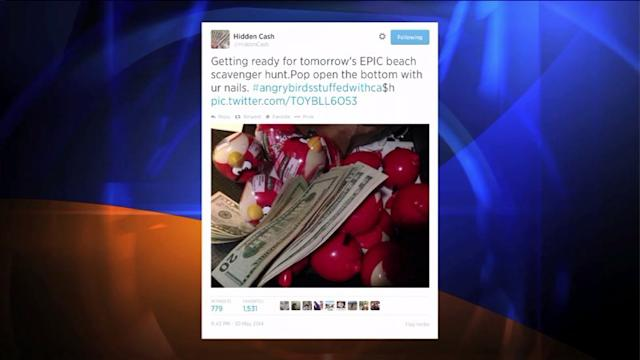 @HiddenCash Fans Guess Cash Filled Angry Birds May Be Hidden in Santa Monica