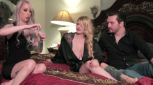 Polyamorous 'vampire' couple explain how they suck 'donor' girlfriend's blood