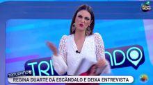 """Chris Flores detona ao vivo: """"Finalmente conheci quem é a Regina Duarte"""""""