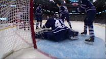 Bernier robs Skinner with late pad save