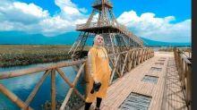 Wisata Menara Eiffel Berbahan Bambu di Tengah Rawa Pening Semarang