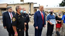 Trump claims credit for bringing calm to Kenosha in visit criticized as politicizing racial unrest