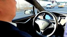 Andrew Yang uses Tesla's Autopilot feature in a new ad  — and he breaks the same rule Elon Musk has on TV