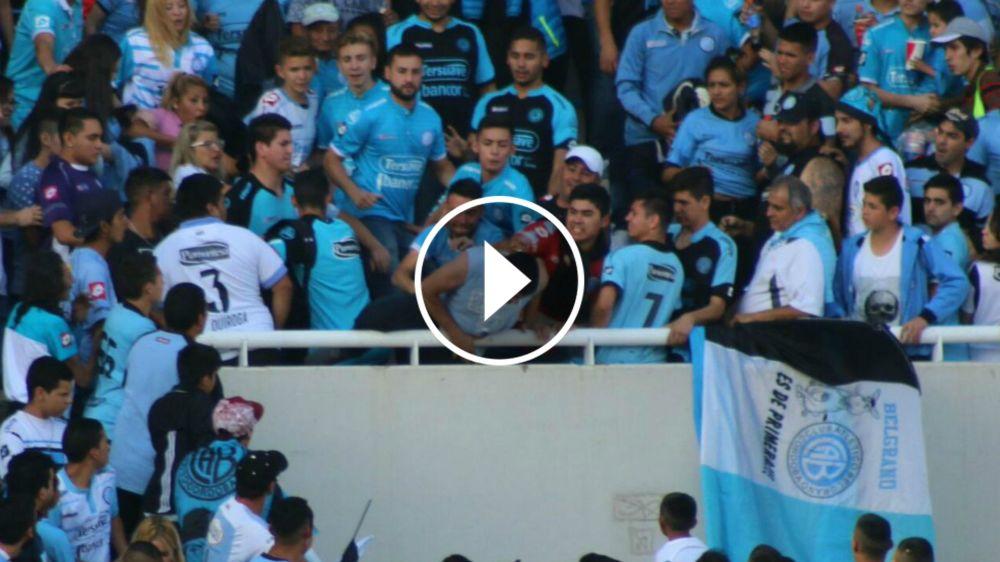VIDEO: ¡Basta de violencia! Así fue la cobarde agresión al hincha de Belgrano