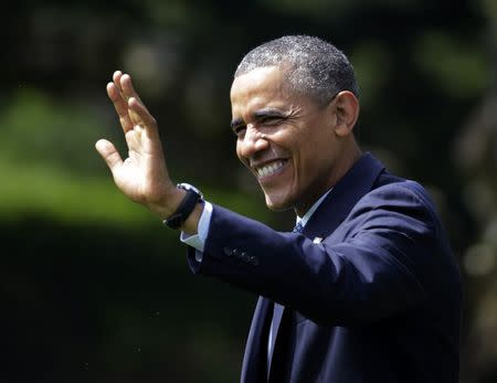 U.S. President Barack Obama departs the White House in Washington