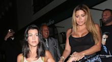 Kourtney Kardashian Wears a Sheer Shirt for a Girls' Night Out Post Breakup with Younes Bendjima