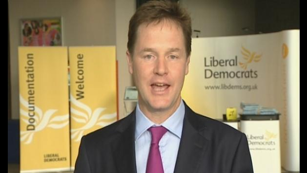 Nick Clegg denies rift with Vince Cable