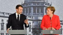 Réforme de la zone euro: Macron presse, Merkel freine