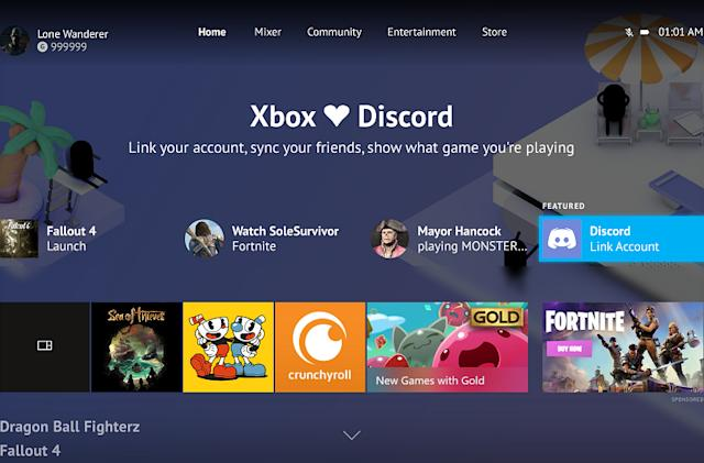 Discord comes to Xbox for integrated chats