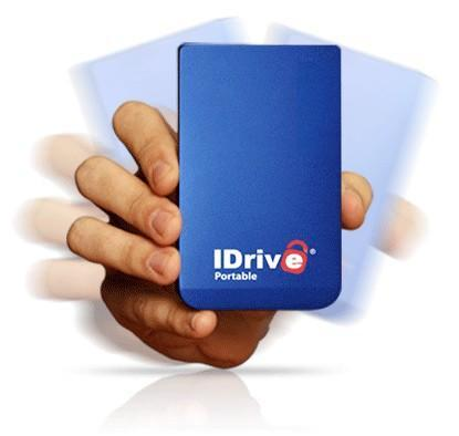 IDrive Portable HDD backs your files up locally and online