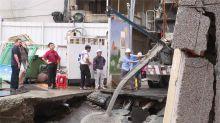 永和路面坍塌究因!疑建商施工不完全 連續壁瑕疵導致