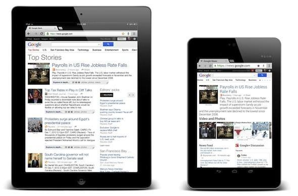 Tablet-optimized version of Google News rolling out over the next few days
