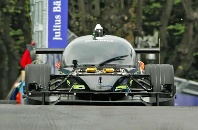 Roborace's self-driving car isn't faster than a human (yet)