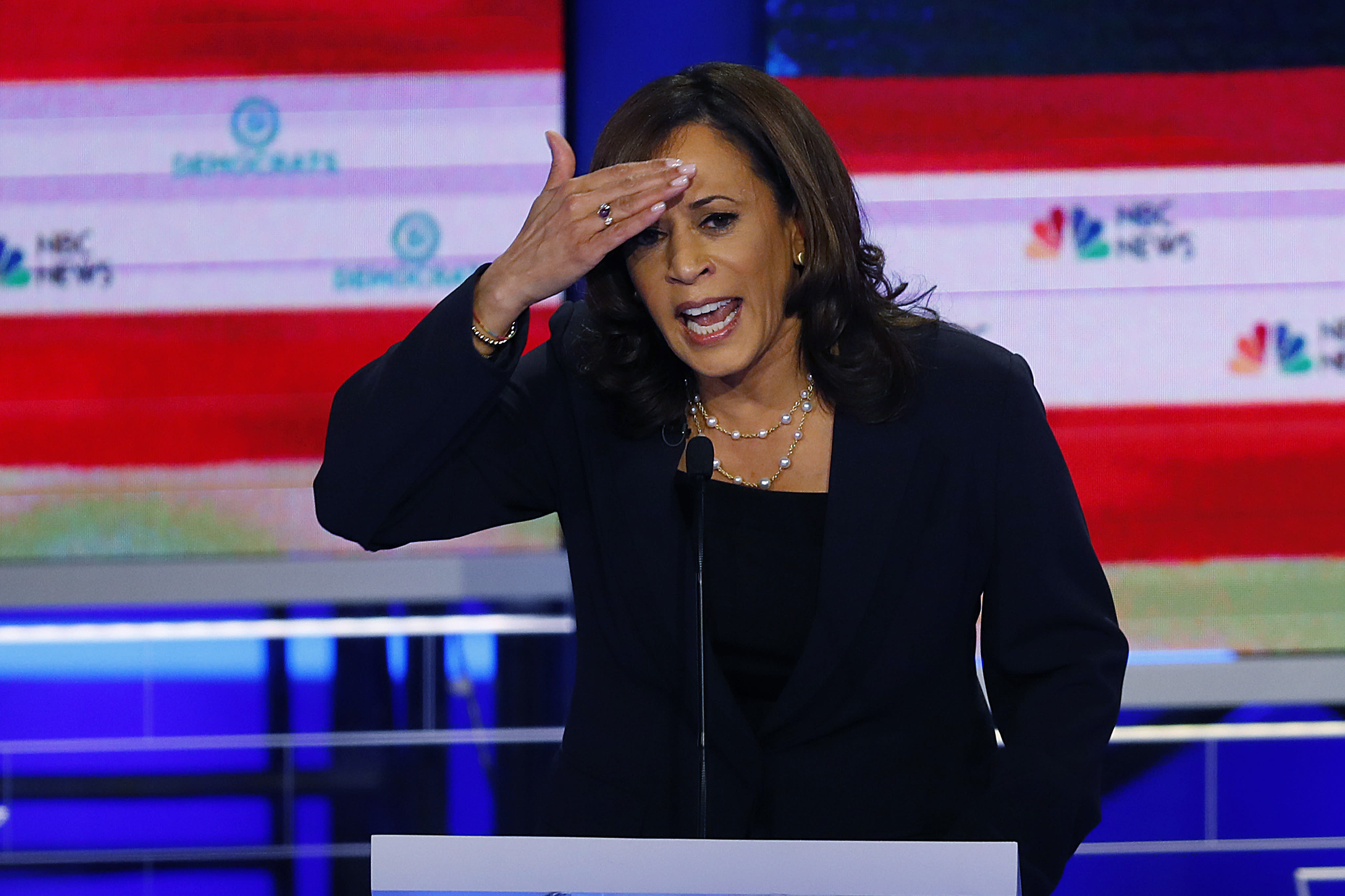 Harris now trailing just Biden, Sanders after Dem debates