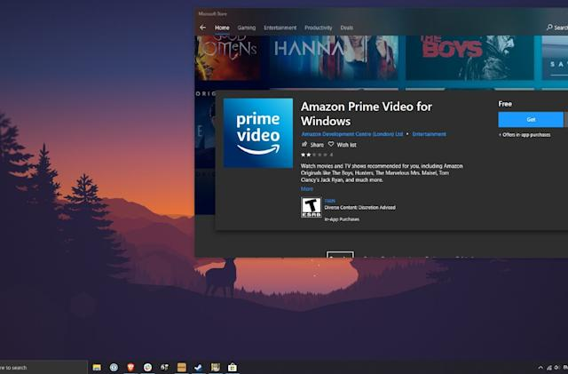 Amazon's Windows 10 Prime Video app brings offline viewing to PCs