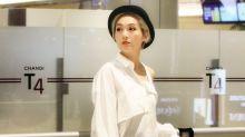 型媽楊千嬅現身新加坡 帥氣優雅兼備