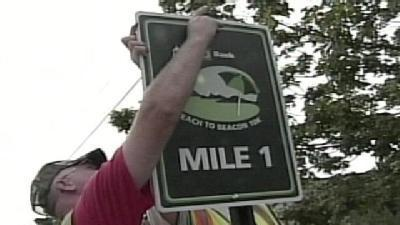 Miles Marked For Beach To Beacon