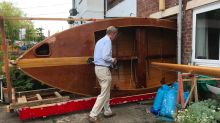 Retired man pulls patio door off his house to remove 16ft boat he built in lockdown