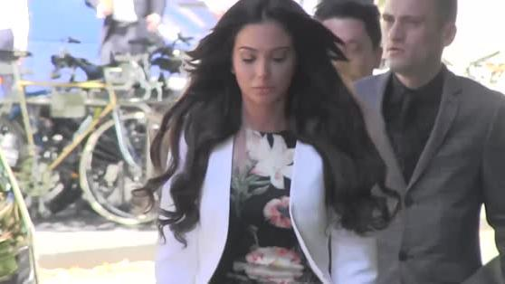 Tulisa Contostavlos appears for her trail