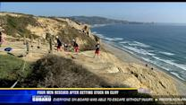 4 men rescued after getting stuck on cliff