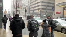 Snow falls in Philadelphia as Winter Storm Petra hits