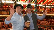 Arnold Schwarzenegger makes his annual pilgrimage to Oktoberfest with son Patrick