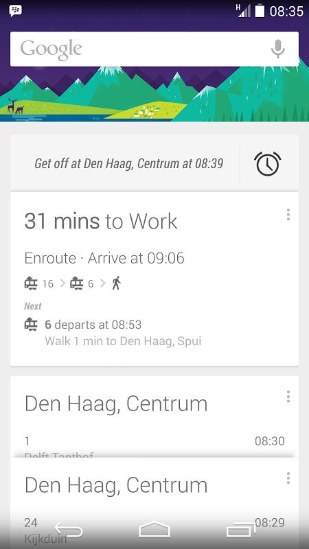 Google Now ist der Wecker für Bus und Bahn