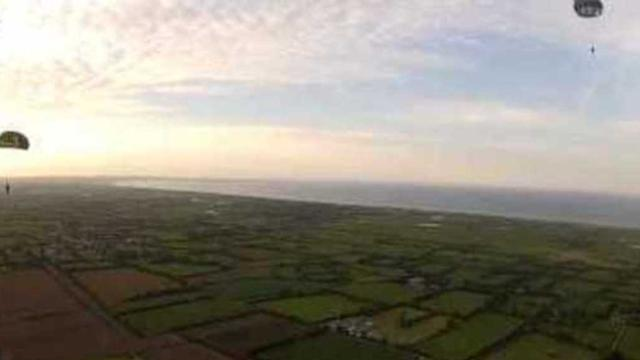 First-Person Footage of D-Day Anniversary Air Drop