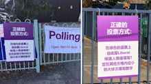 'Disgraceful': Outrage over 'deceptive' Liberal signs at polling booths