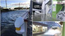 【有圖有片】日本颱風21號 網民起身見屋外變河